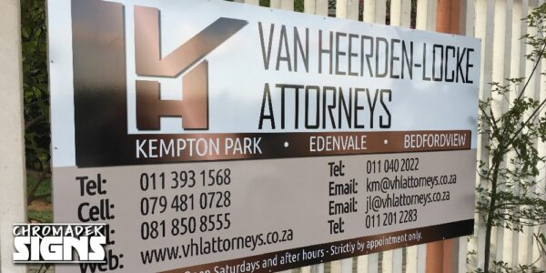 business company wall fence signboard chromadek 2450x1225