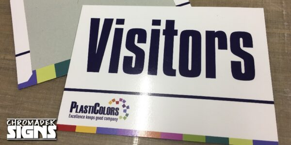business company welcome signboard chromadek 600x400