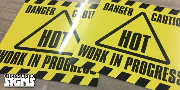 business company warning signboard chromadek 600x600