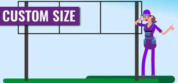 Own size chromadek signs - Board builder 1